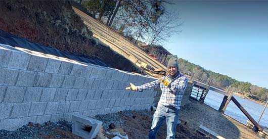 Seawall Construction Lake Greenwood
