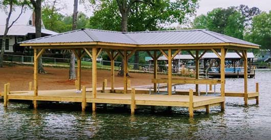 boat dock lake greenwood